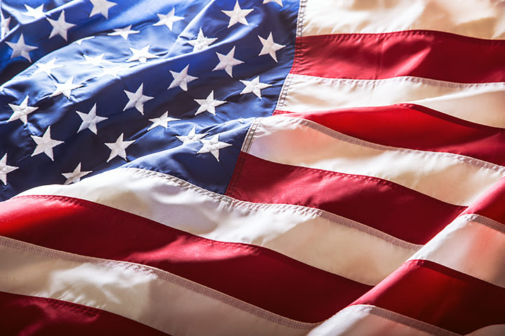 Our Red white and Blue - old Glory!